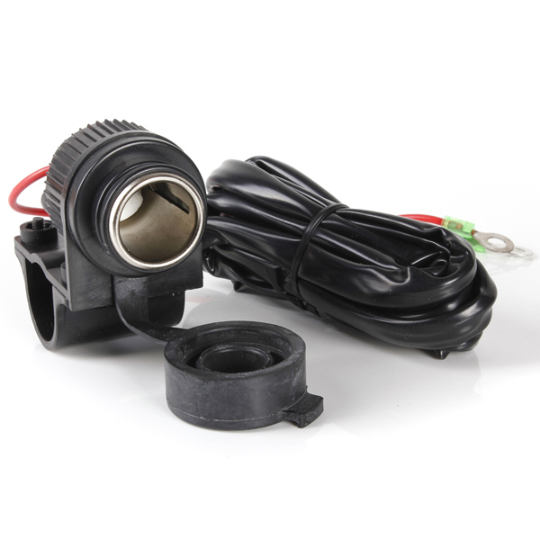 120W Motorcycle Cigarette Lighter Power Adapter Socket Charger Outlet