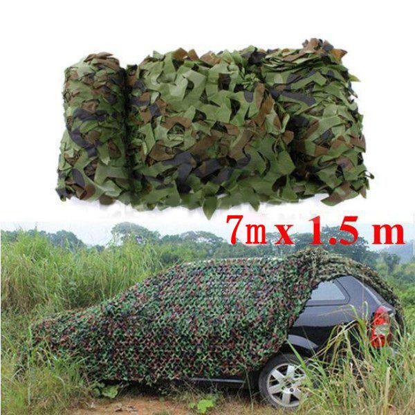 Buy 7X1.5m Woodland Camouflage Camo Net For Camping Military Photography
