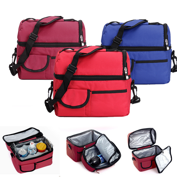 Buy Convenient Picnic Lunch Bag Cooler Ice Box Assorted Colors Available