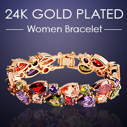 24K Gold Plated Women Bracelet