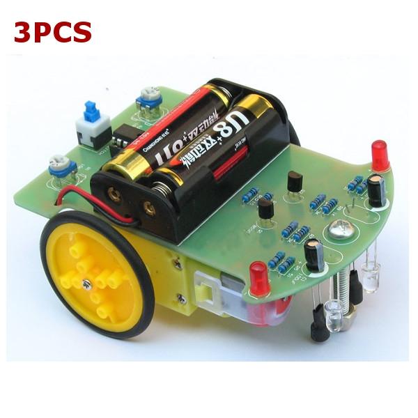 Buy Tracking Robot Car Electronic DIY Kit With Reduction Motor