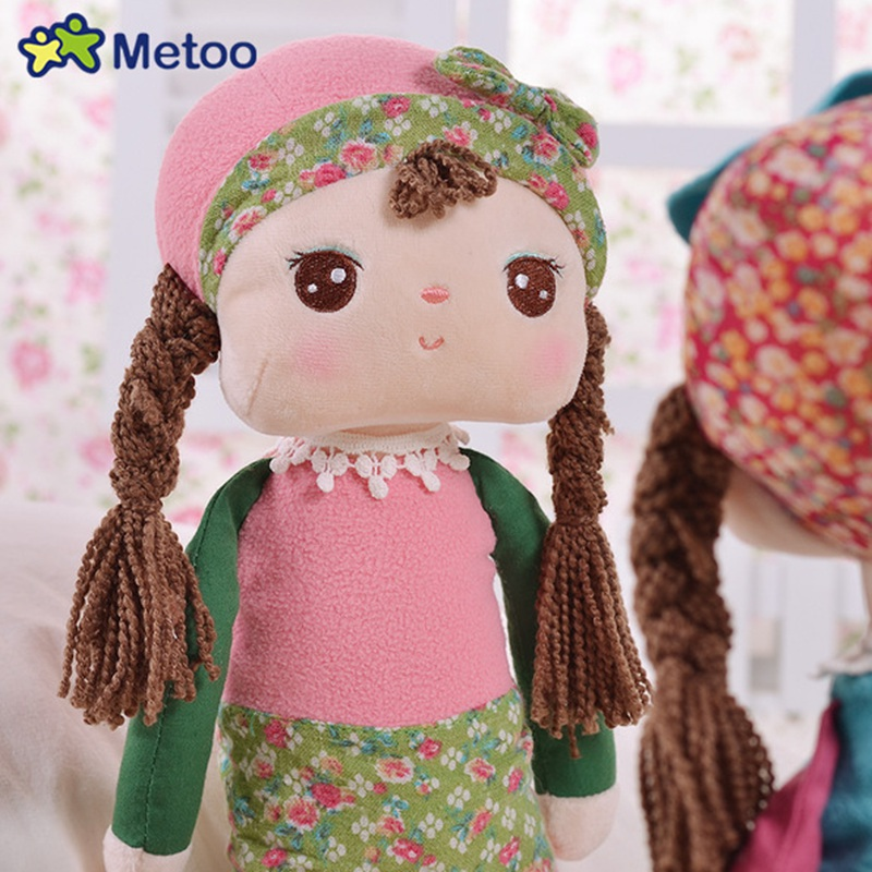 Metoo Angela Rural Dreaming Girl Bunny Plush Toys Figure Stuffed Toys Gift For Kids - Photo: 3