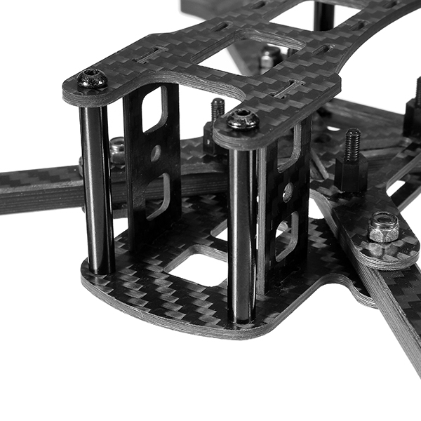 Realacc Furious 220mm Carbon Fiber 6mm Arm FPV Racing Frame Kit 97g