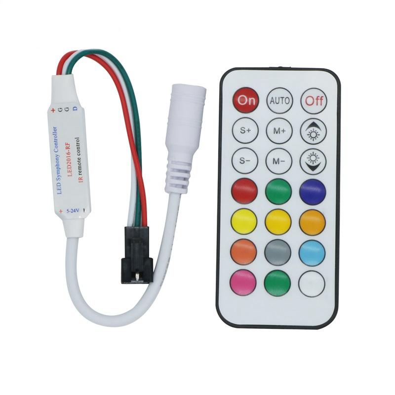 Dc5 24v 21 Schlüssel Remote Kontrolle Rf Regler Für 2811 2812 Led