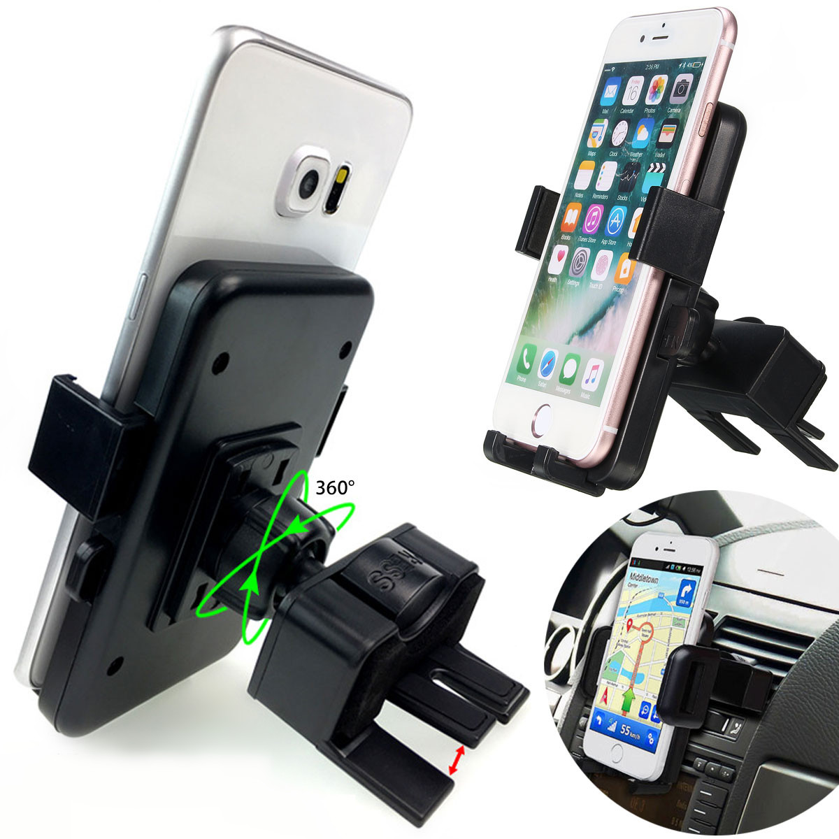 Rock universal car air vent mount holder for smartphone 6