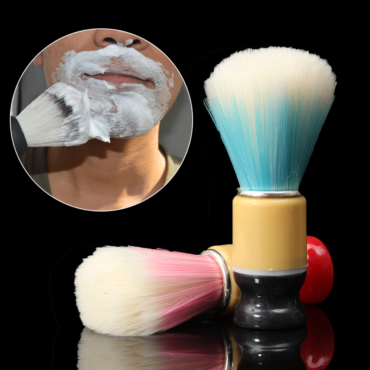Men's Beard Hair Brush Brushes for Shaving Cream Soap Foam Producing