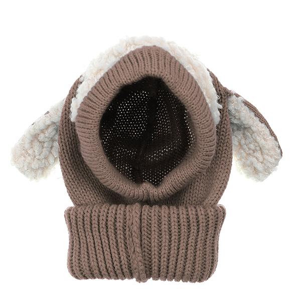 Children Kinder Dog Ear Warm Mütze Häkeln Hut Knitted Wolle Mit