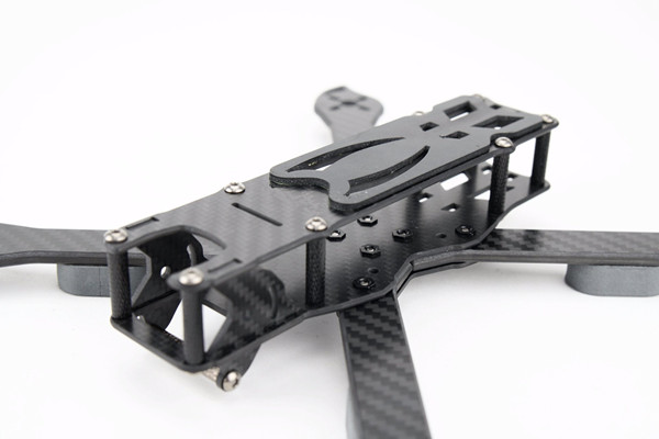 PUDA D240 240mm 4mm Arm 3K Carbon Fiber Durable True X Type Racing Frame Kit