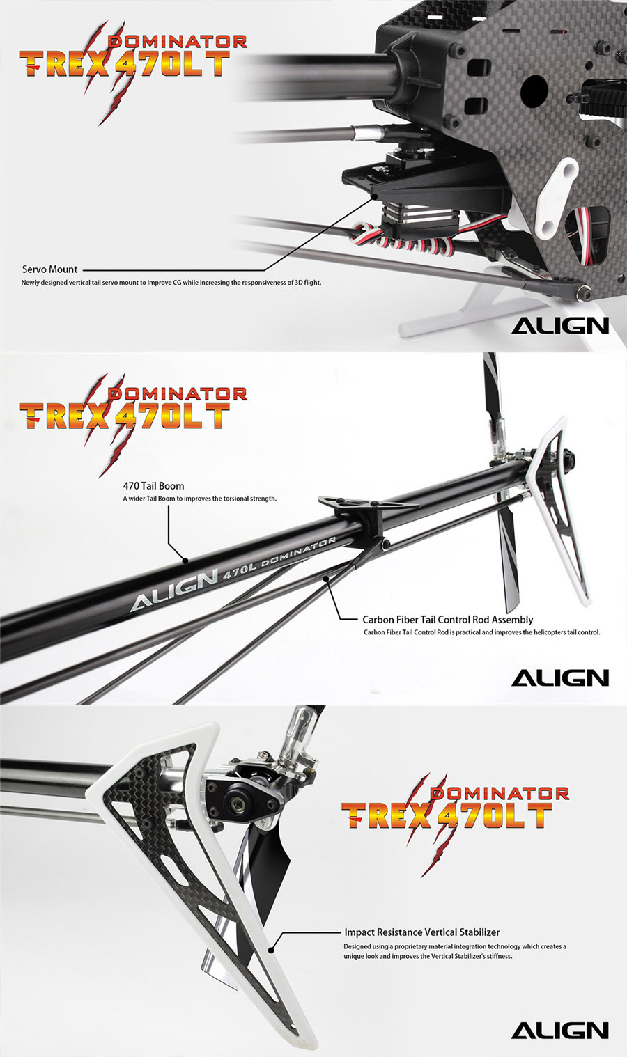 ALIGN T-REX 470LT Helicopter Dominator Super Combo 450L Upgrade Version
