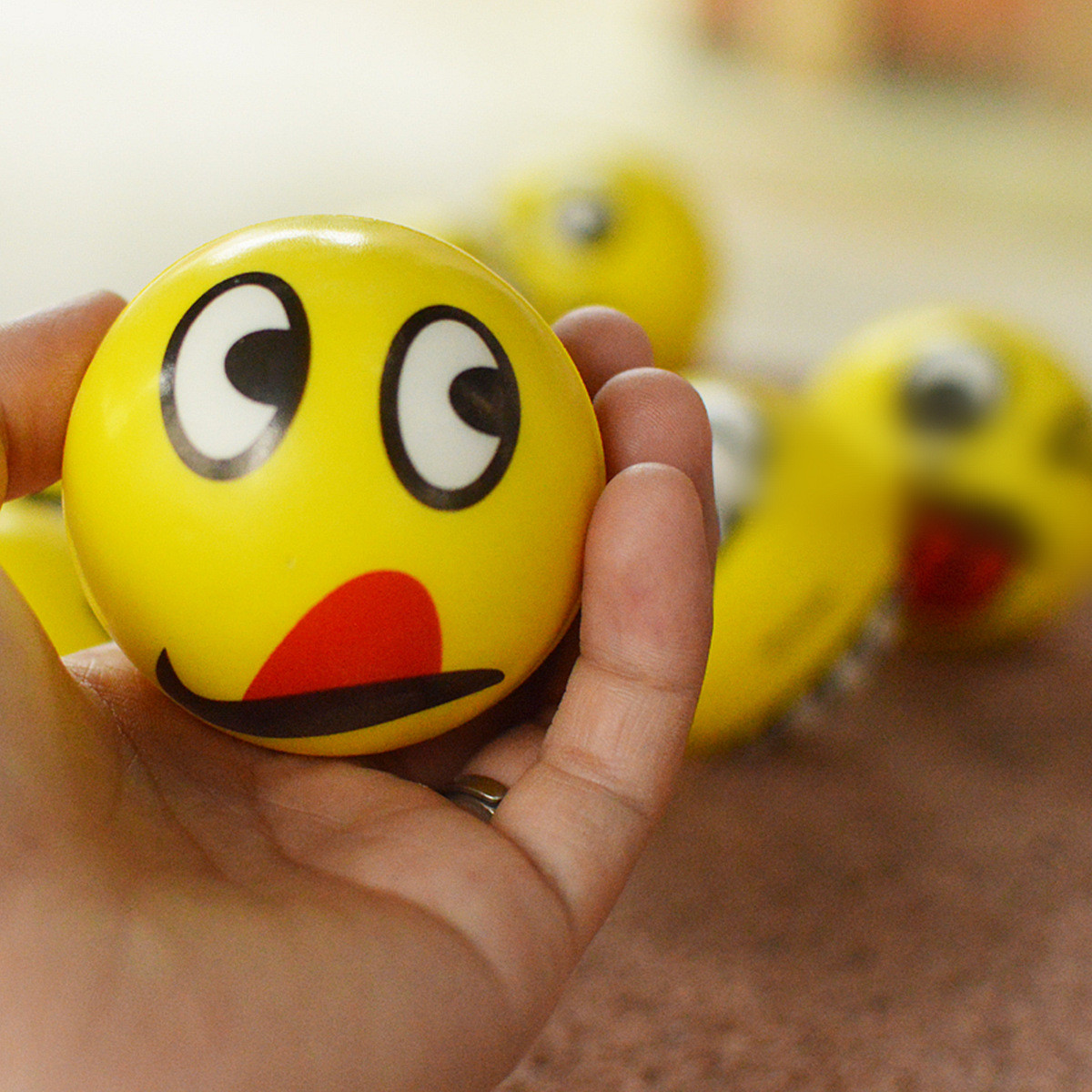 Squishy Foam And Stress Ball Emoji : Squishy Emoji Smiley Face Anti Stress Relief Autism Mood Squeeze Ball Reliever Toy Sale ...