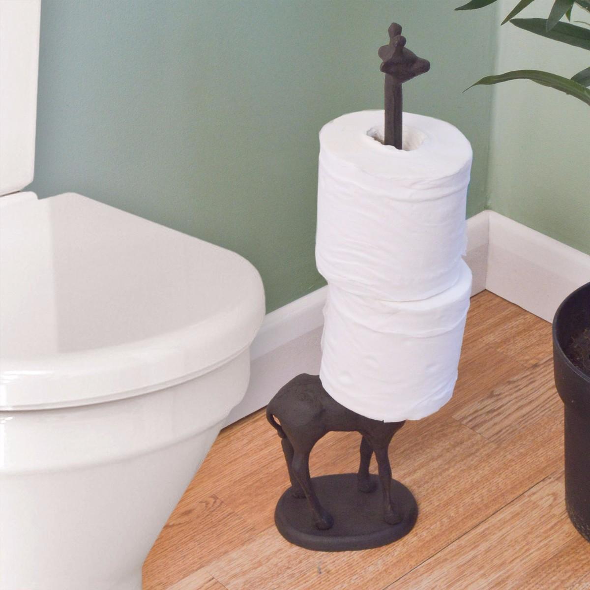 Metal Standing Metal Giraffe Toilet Paper Tissue Dispenser