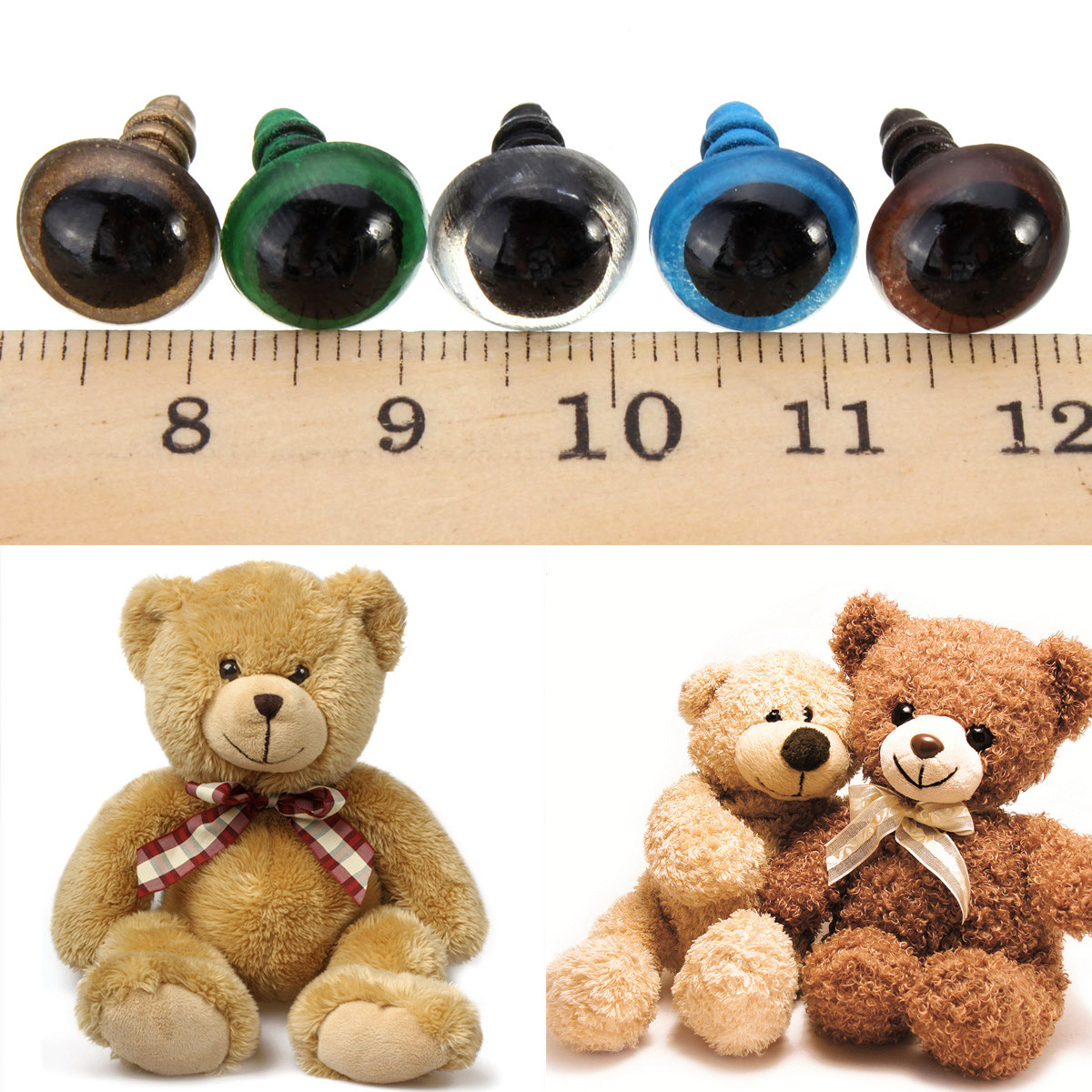 100pcs 14mm Baby Kids Handcraft Art Mix Color Plastic Safety Eyes DIY Teddy Bear Doll Plush Toys