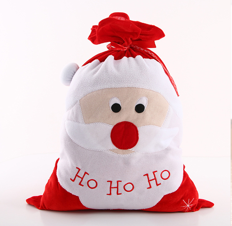 Christmas stocking decoration santa candy bag