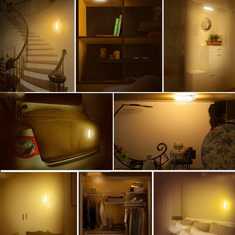 USB Rechargeable LED Under Cabinet Night Light Motion