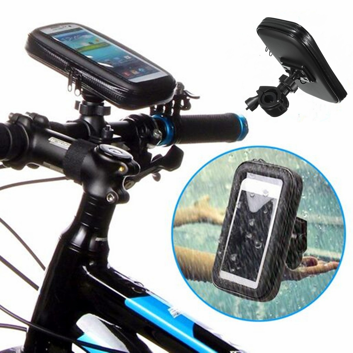 Buy Universal Waterproof Motorbike Motorcycle Case Bike Bag Phone Mount Holder for iPhone Samsung GPS