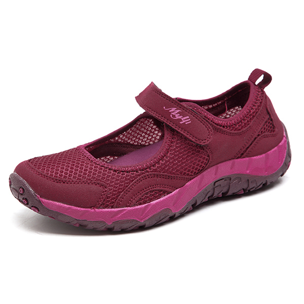 Mujer Light Heathly Breathable Mesh Soft Sole Casual al aire libre Zapatos Deportivos