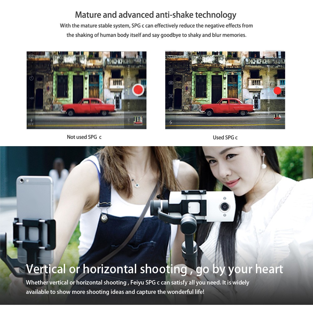 Feiyu Tech SPG-C 3-Axis Bluetooth Stabilized Handheld Gimbal for SmartPhone w/ Battery - Photo: 11