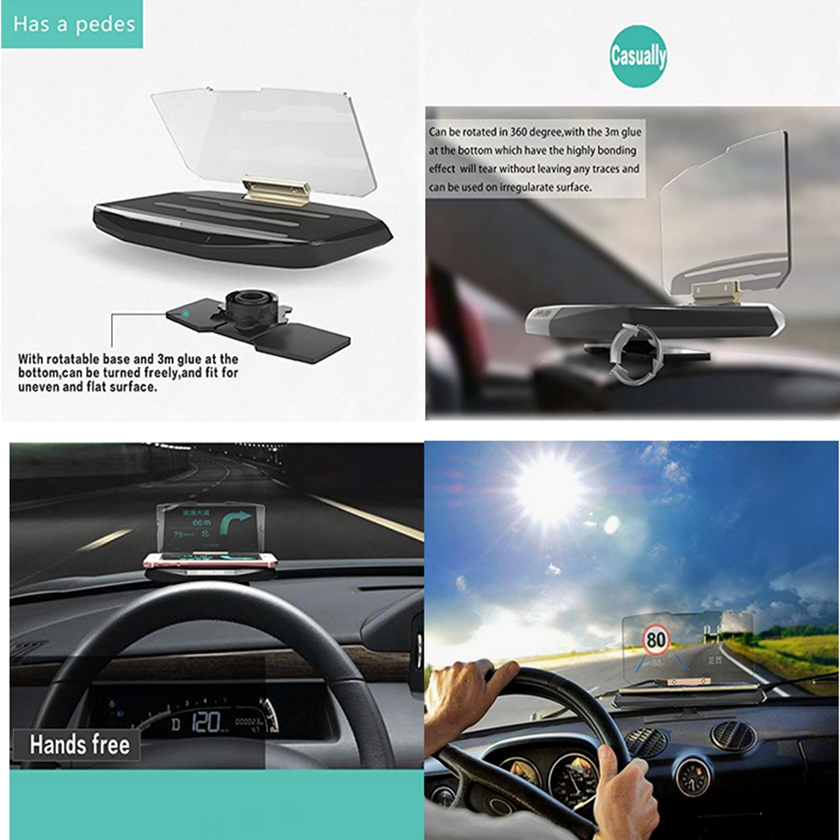 auto fahrzeug hud head up display navigation gps handy. Black Bedroom Furniture Sets. Home Design Ideas