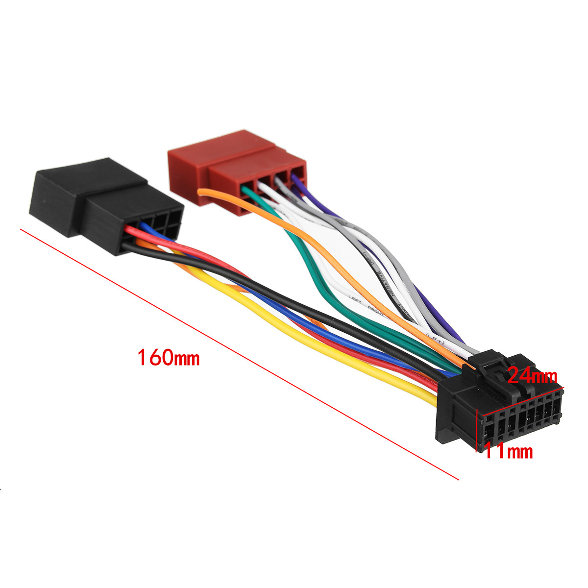 car stereo radio iso wiring harness connector 16 pin pi100. Black Bedroom Furniture Sets. Home Design Ideas