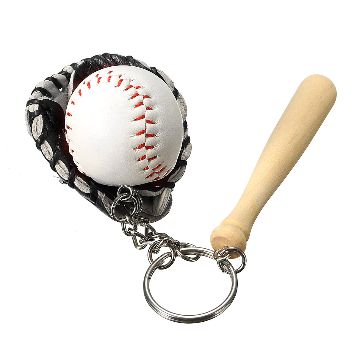 Mini luva de beisebol Sport Ball Pendant Exquisite Gift Bags Car Key Chain Ring