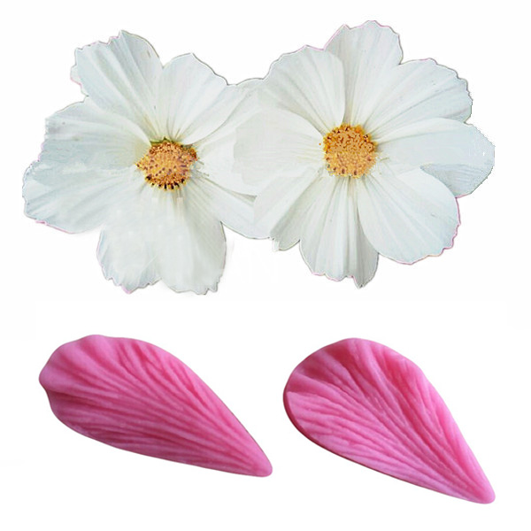 2Pcs Leaf Shaped Silicone Press Mold Cake Decoration Fondant Cake 3D Mould