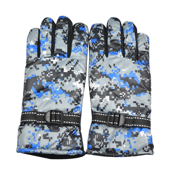 Full Finger Cycling Motorcycle Gloves Mountain Bike Camouflage Navy Men Free Size For BOODUN