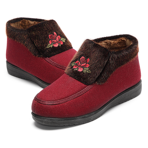 Snow Boots Winter Women Plush Keep Warm Casual Outdoor Cotton Flats