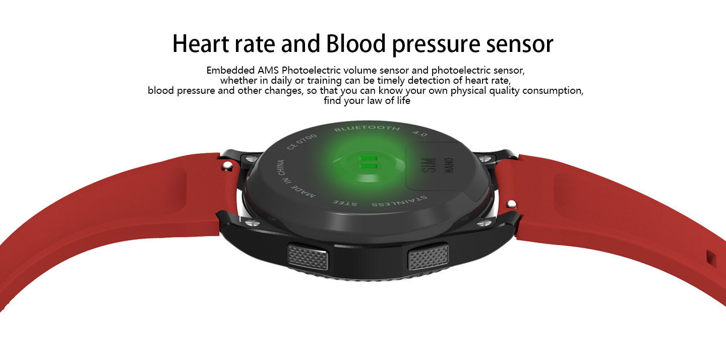 NO.1 G8 MT2502 Blood Pressure Heart Rate Monitor Call SIM Card Smart Watch for Android IOS