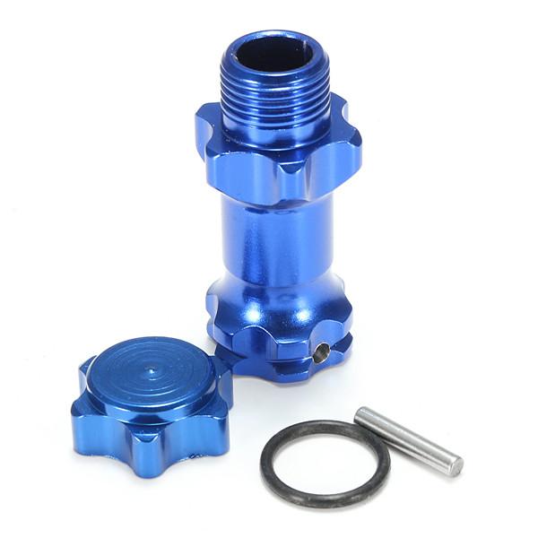 1/8 Aluminum Alloy 17mm Wheel Hex Hub Adapter Extension 30mm RC Car Parts Blue