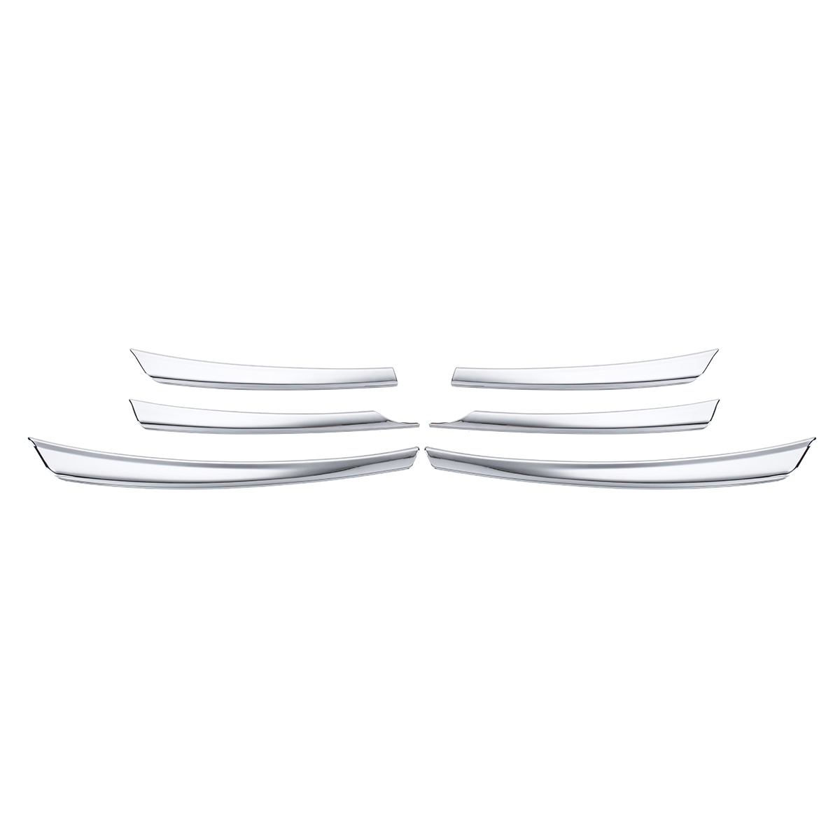 Chrome Front Mesh Grille Head Bumper Cover Trim Fit for