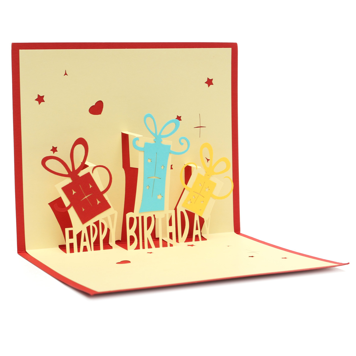 Handcraft Happy Birthday 3D Greeting Card  Birthday Party Pop Up Card