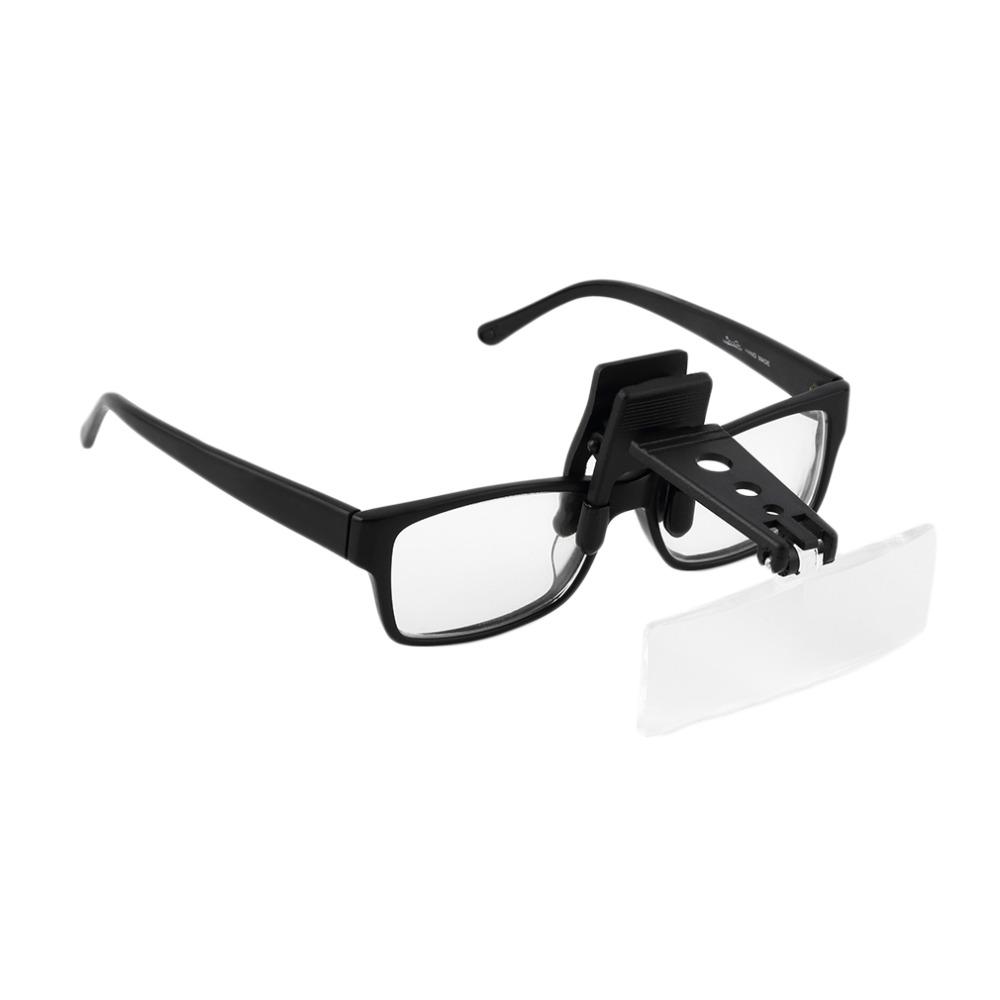 Buy Folding Eyeglass Clip On Flip Loupe Magnifying Glass Handsfree Precise Magnifier Creative Design