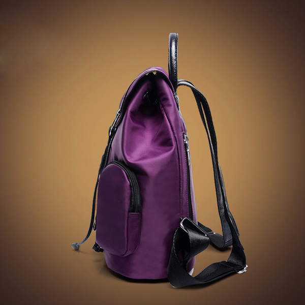 Women Three Pieces Nylon Waterproof Backpack Casual Crossbody Bag Clutches Bag