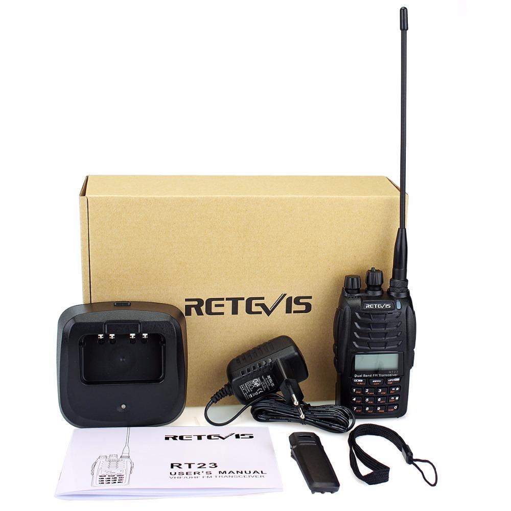 Retevis RT23 Walkie Talkie Cross-Band Repeater UHF VHF 136-174 400-480Mhz Dual PTT Dual Receive 1750Hz Ham Radio A9122A
