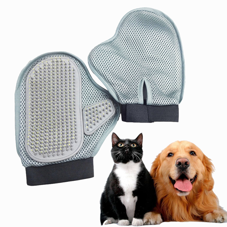 Yani HP-PG2 Pet Dog Steel Needle Massage Glove Bathing Hair Comb Anti-static Glove