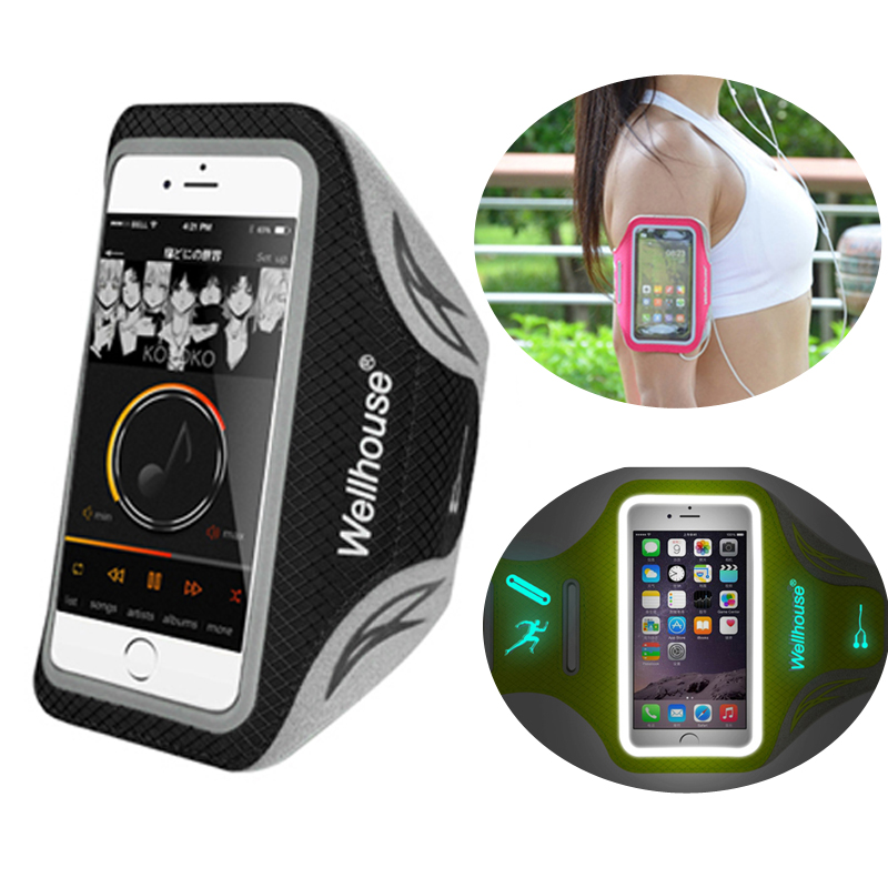 Sport Running Sweatproof Breathable Phone Armband Case with a Luminous for Phone Under 5.5 inch