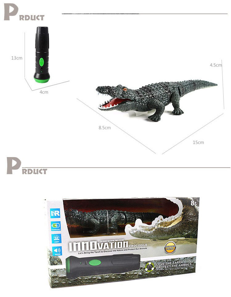 Infrared Remote Control Crocodile Electric Simulation RC Toy For Kids Children  - Photo: 3