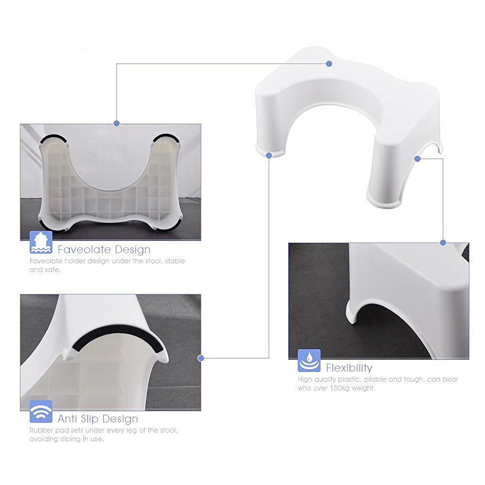 Honana Bx 926 Abs Nonslip Bathroom Stool Prevent