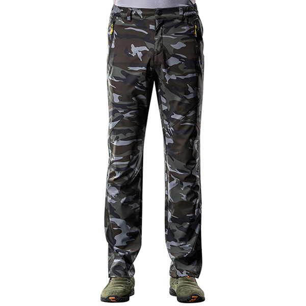 Mens Camouflage Casual Outdoor Sport Pants Waterproof Quick-drying Climbing Pants