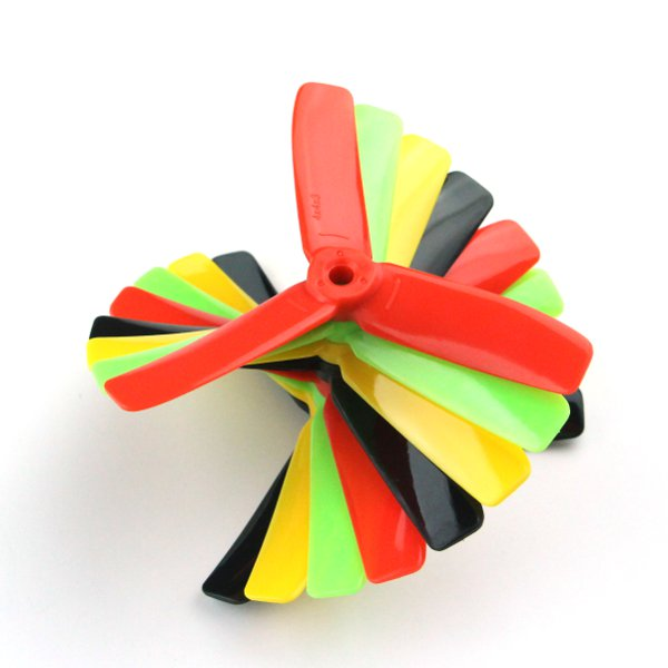 Kingkong 4*4*3 4040 4 Inch 3-Blade Rainbow Colorful Propeller CW CCW for FPV Racer  - Photo: 1