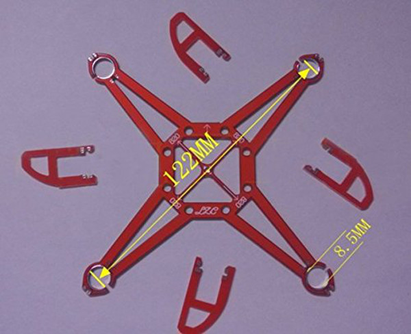 122mm 1.2mm 10g DIY Micro Mini PCB RC Quadcopter Frame Kit Support 8.5x20mm 820 Coreless Motor - Photo: 3