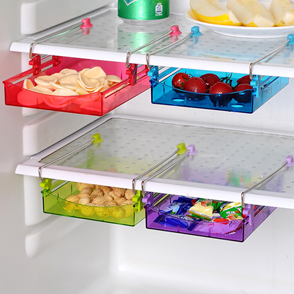 Honana Multipurpose Fridge Storage Sliding Drawer