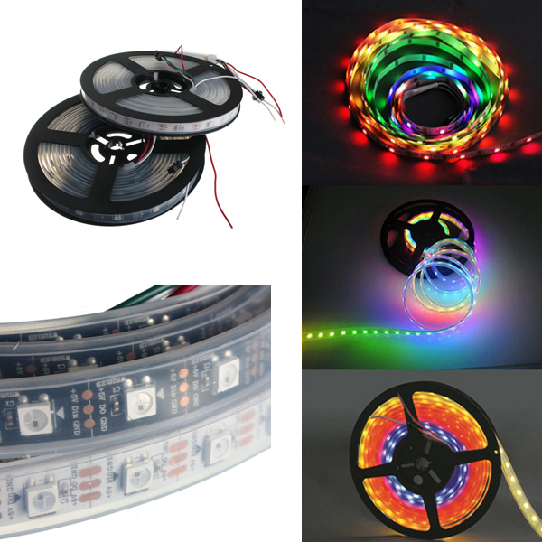 Buy 5M WS2812B 5050 RGB Waterproof IP67 150 LED Strip Light Dream Color Changing Individual Addressable DC 5V