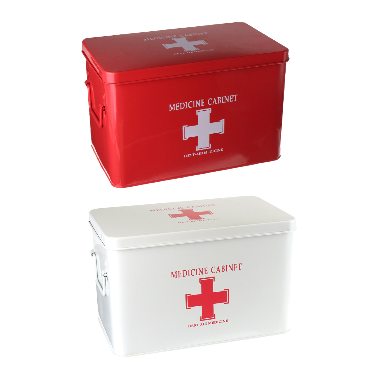 Used Metal Storage Cabinet >> Medications Box 315x190x210mm Red/White Medicine First Aid Cabinet Home Pharmacy | Alexnld.com