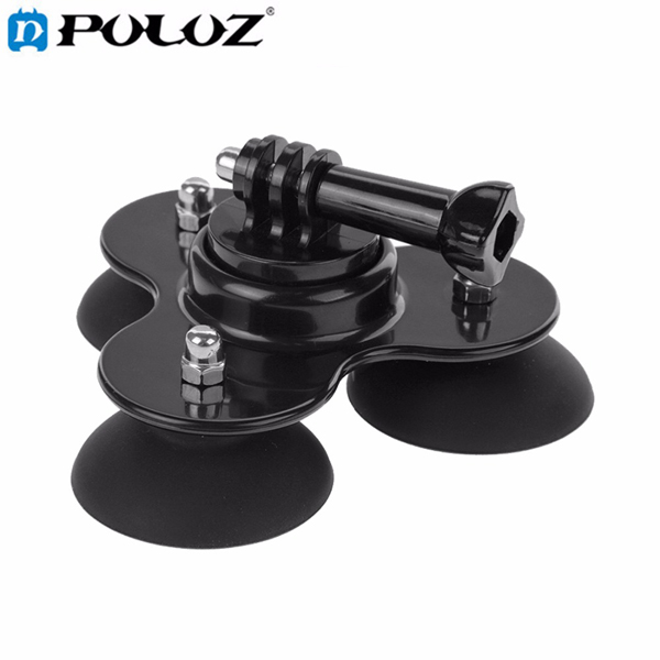 PULUZ Triangle Suction Cup Mount Tripod with Screw for Gopro SJCAM Yi