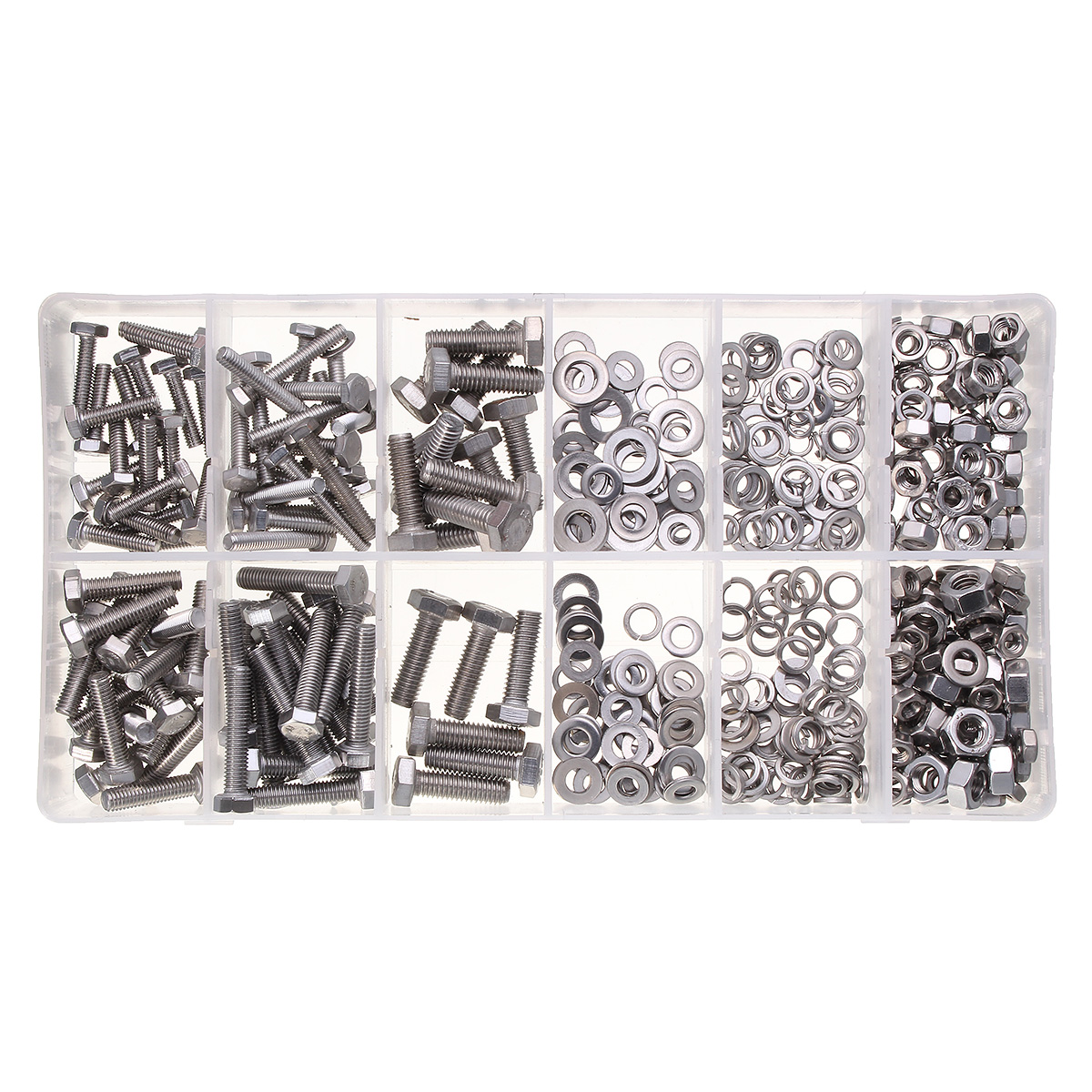 M4/M5/M6 Stainless Steel Metric Bolts Head Cap Hexagon Socket Nuts Screws with Flat Washers