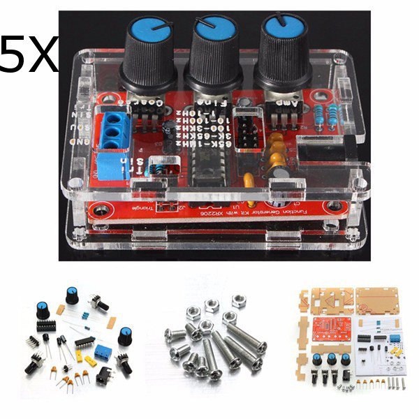 Buy Geekcreit® XR2206 Function Signal Generator DIY Kit Sine Triangle Square Output 1HZ-1MHZ