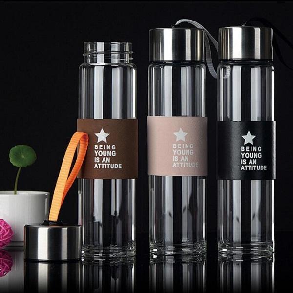 Fashion Multi-color Sport Bottle 480ml Travel Car Bottle Creative Tea Mug with Tea Strainers