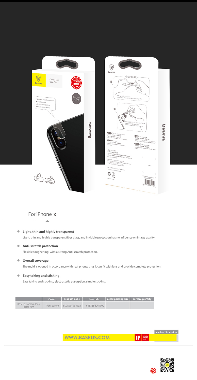 Baseus 015mm Back Cover Camera Lens Tempered Glass Protector Film Home Key Fingerprint Recognition Iphone Ipad Ios More Detail