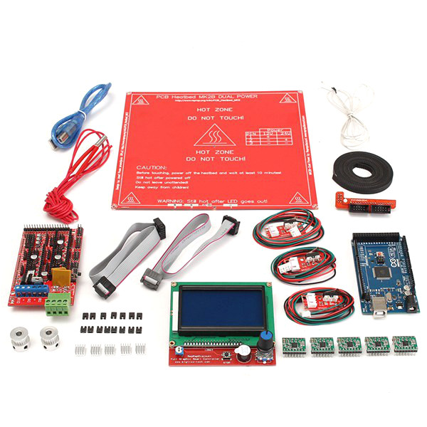 Buy Ramps 1.4 12864 LCD MK2B Heatbed Controller Kit For Reprap Prusa i3 3D Printer